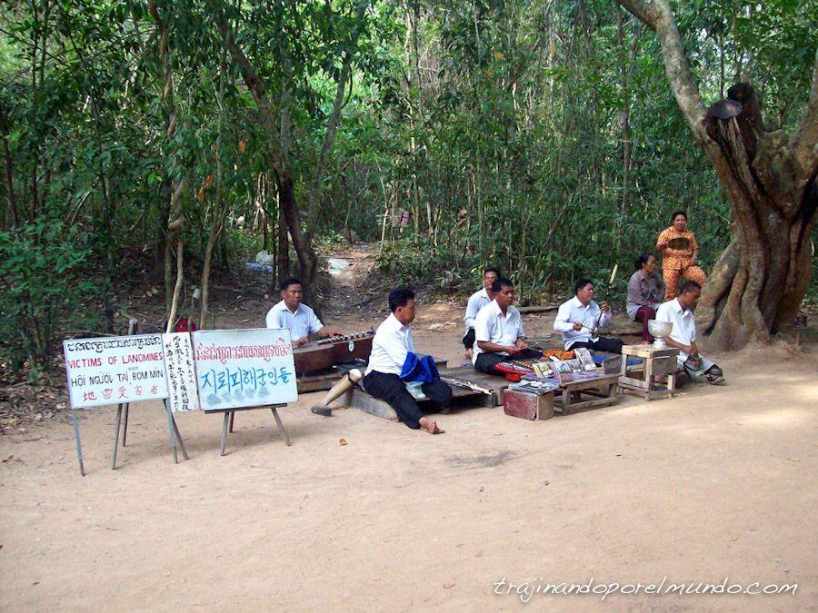 angkor, templos, minas, guerra, heridos