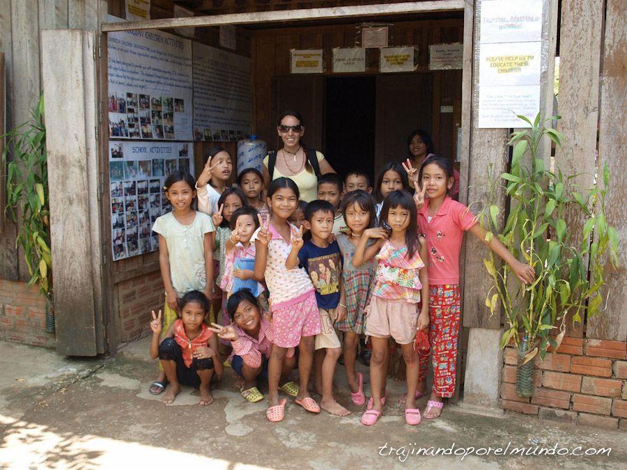 Camboya, viaje, pueblos, niños