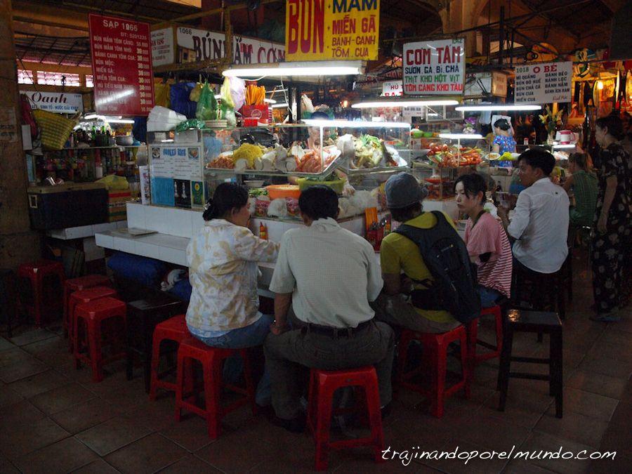 viaje a Vietnam, comer barato, mercados
