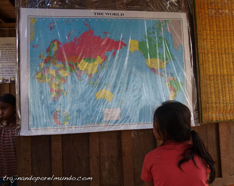 viaje, battambang, mapa del mundo, asia
