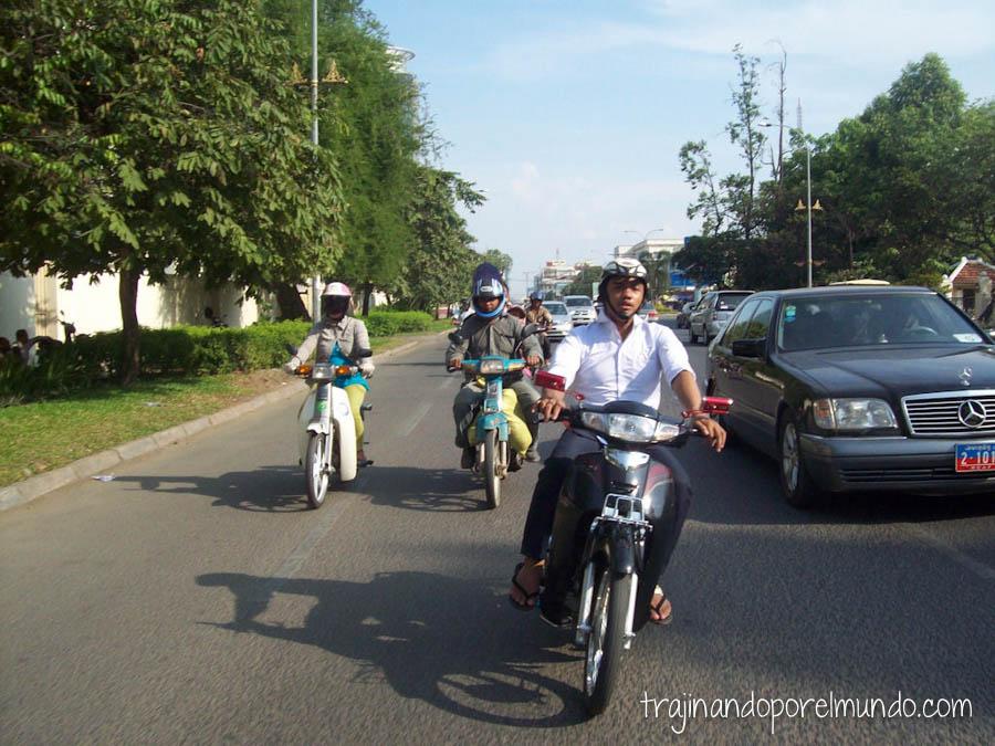 Camboya, viaje, moto, taxi, transporte, barato