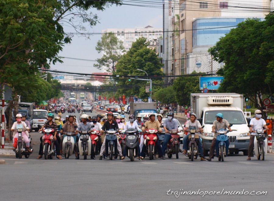 viaje a vietnam, motos, trafico, contaminacion