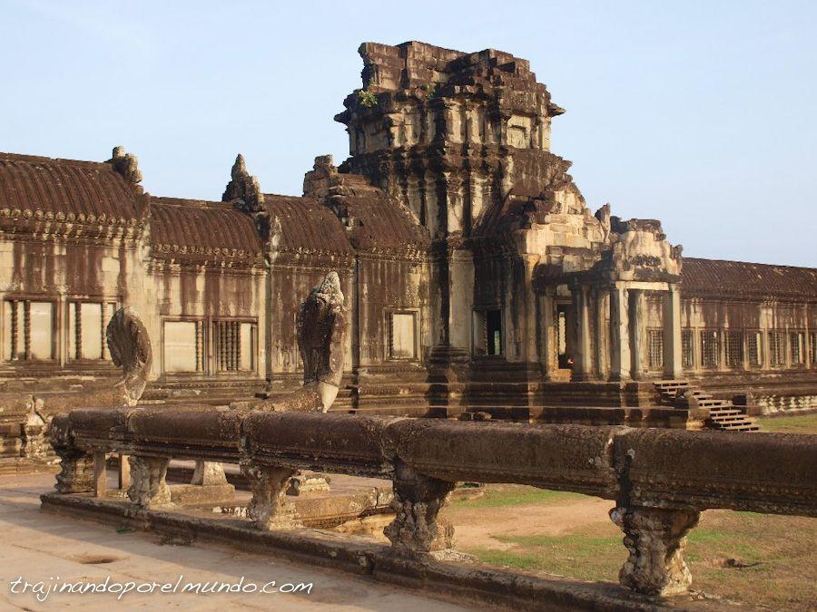 muros, angkor wat, arquitectura, arqueología