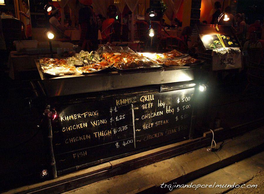 comer, beber, barato, siem reap, angkor, camboya