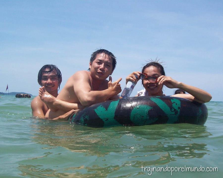 viaje a camboya, amigos, playas