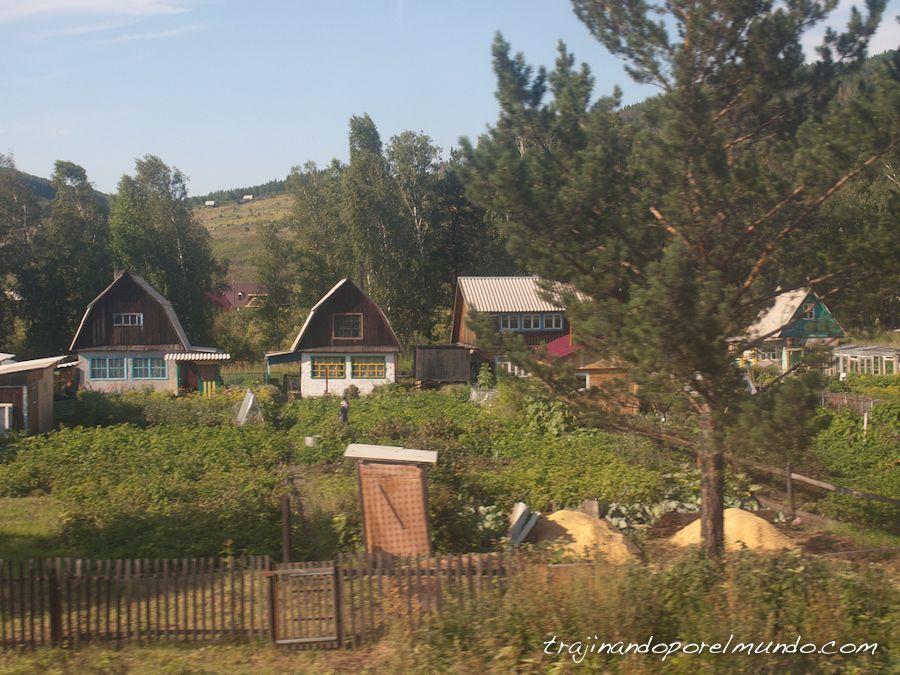 siberia, rusia, pueblos, interior, tren, transiberiano