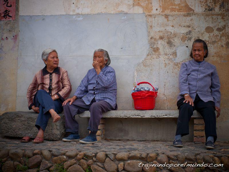 viaje a china, rural, abuelitas, poblacion china, vieja