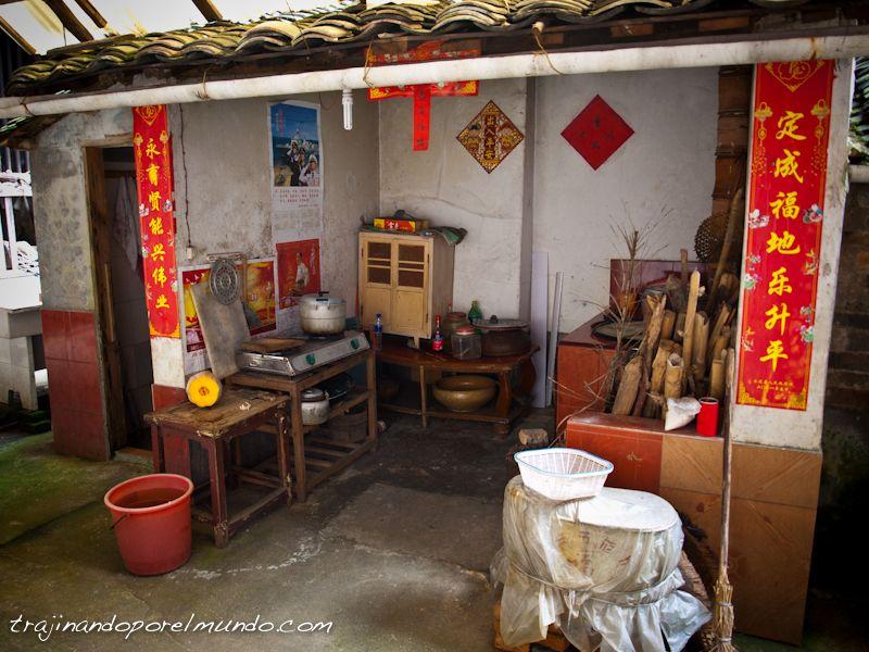 fujian, china, viaje, cocina, pueblo, casas