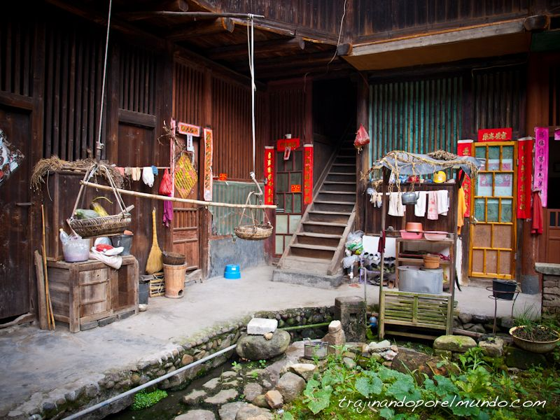 tulou de fujian, patio, rural, china