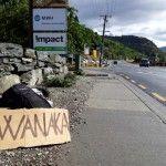 Viajando en autostop por Nueva Zelanda