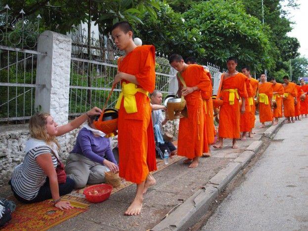 Luang Prabang monjes
