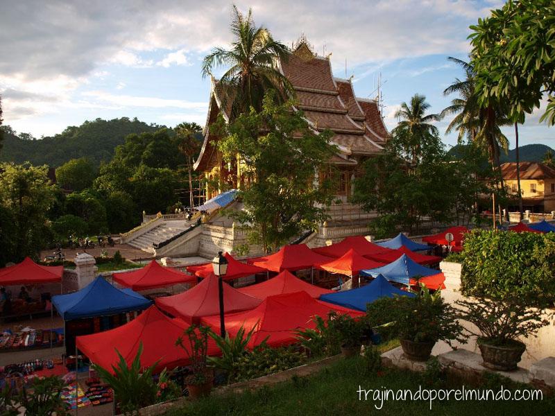 viaje, laos, compras, souvenirs, artesanias, mercado, luang prabang,
