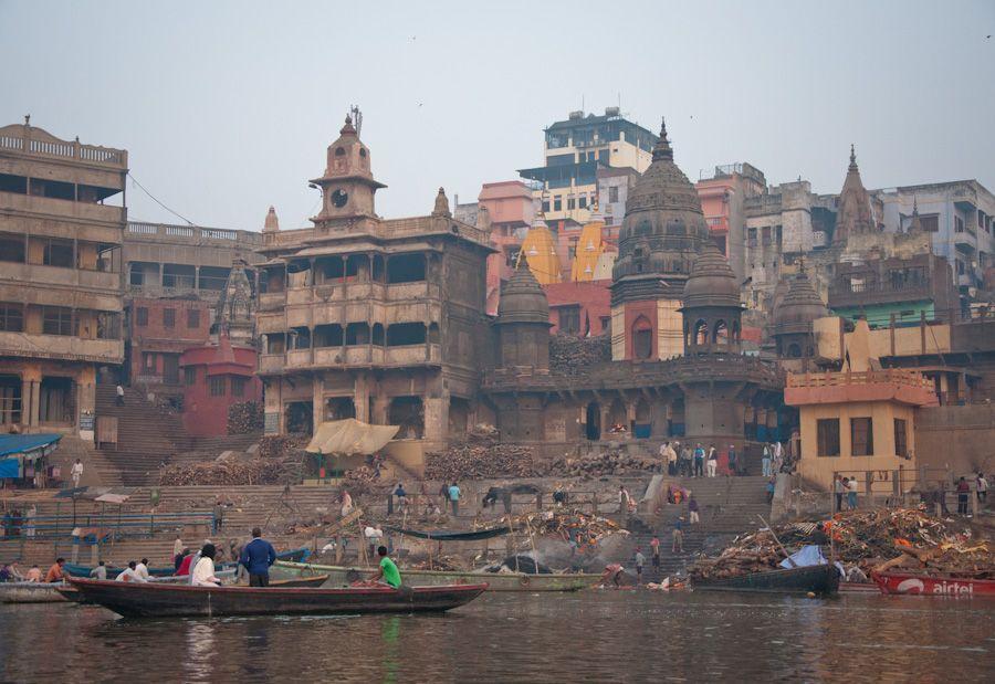 Crematorio del ghat de Manikarnika, Varanasi