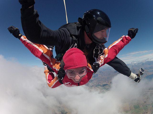 Salto en paracaidas en Nueva Zelanda