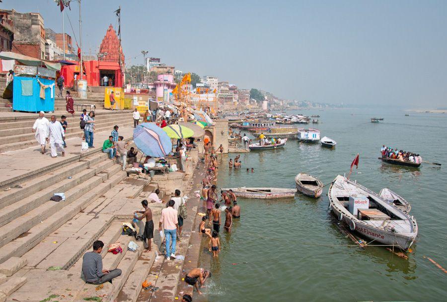 Ambiente en los ghat de Varanasi