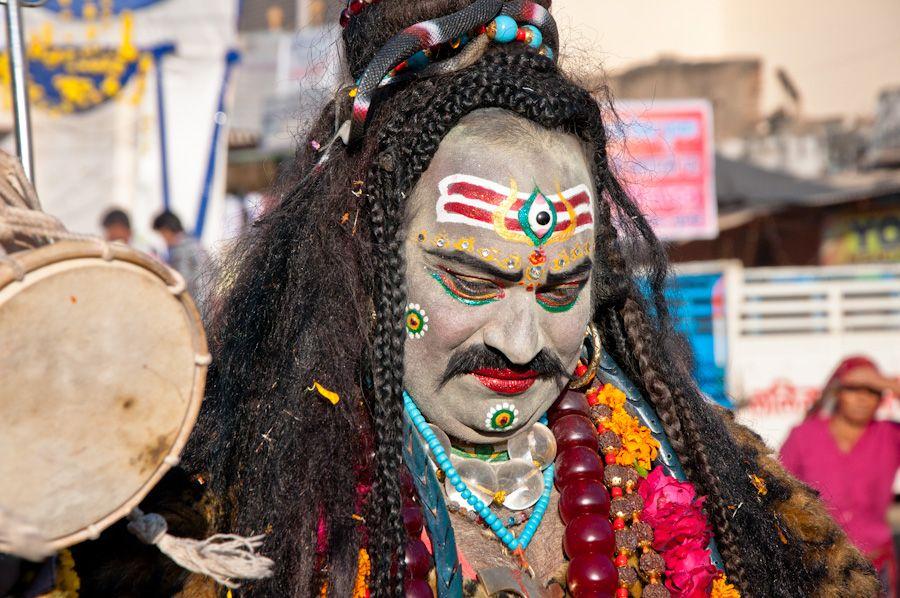 Desfile religioso Pushkar Feria