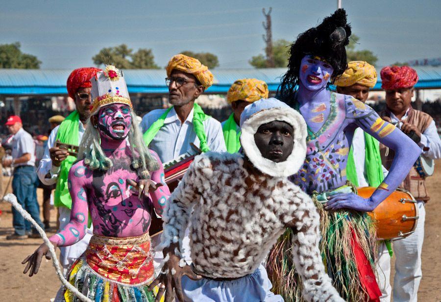 Dioses gran desfile Pushkar India