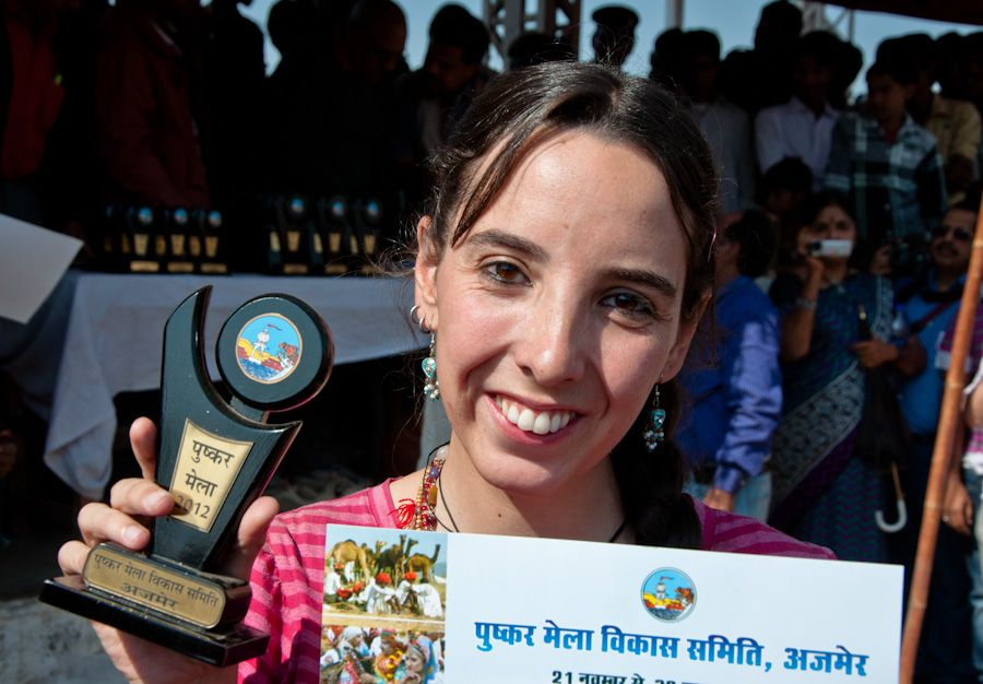 Ganadora carrera cantaros India
