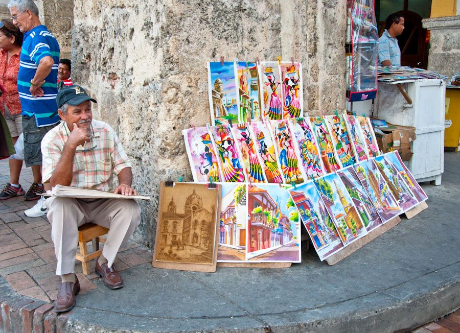 pintor cartagena colombia