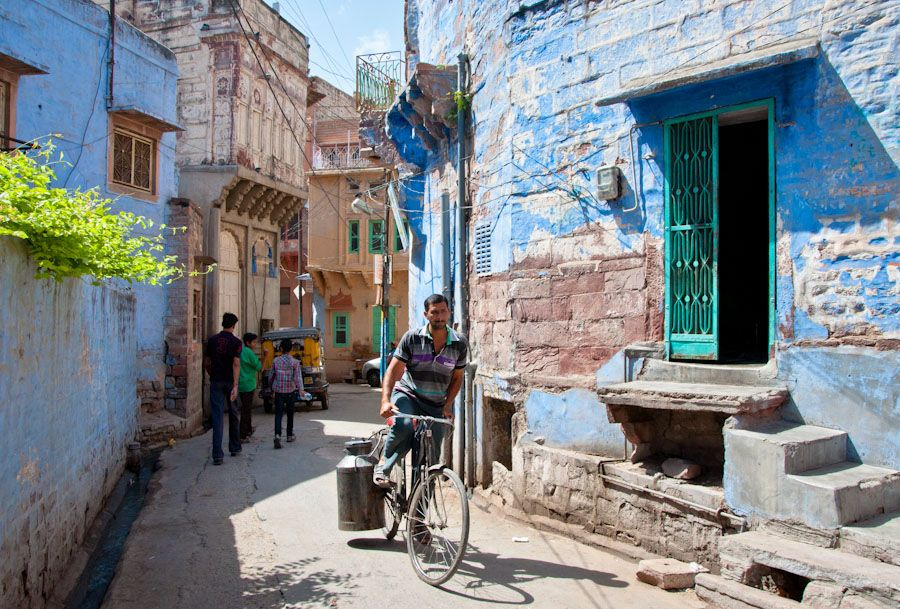 casas azules de jodhpur india