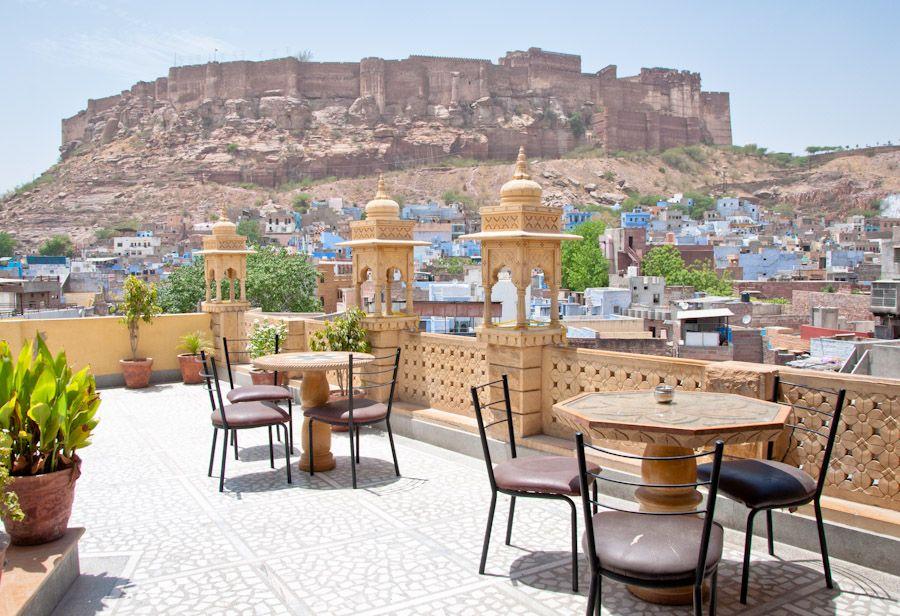 Restaurante Jharokha, comer en Jodhpur, vistas