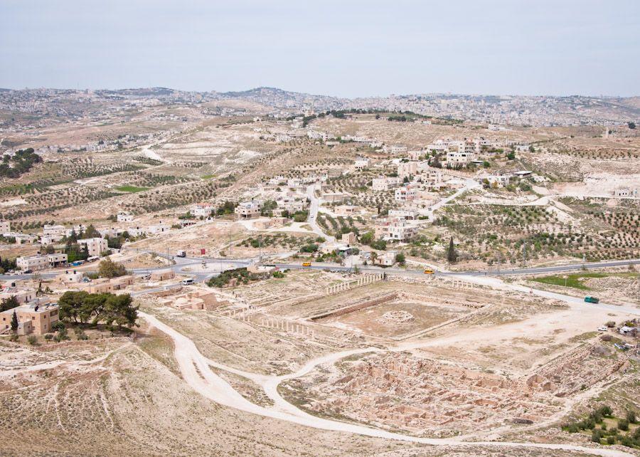 Colina del Herodion, fortaleza, vistas