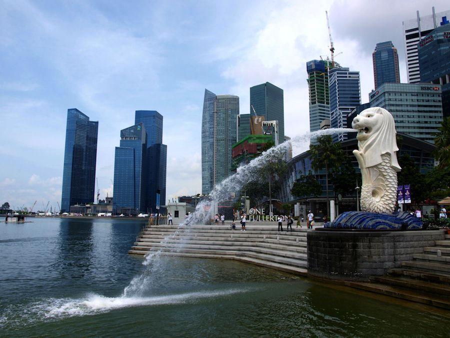 Singapur, anecdotas, viajes, Merlion, estatua