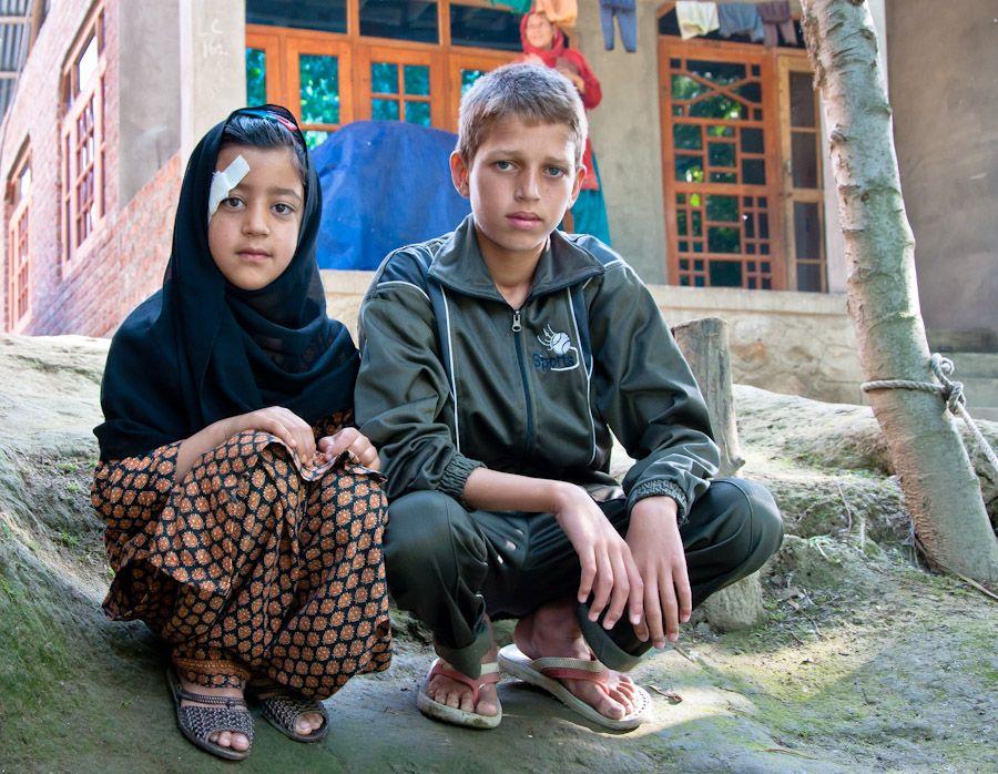 Water-trekking, Cachemira, India, aldeas, paisajes, ninos