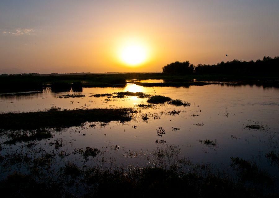 Cachemira, India, Valle, puesta de sol, lago, paisajes