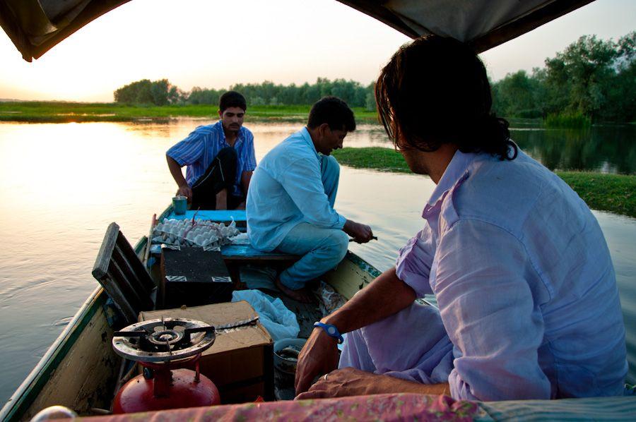 Cachemira, sikhara, excursion, puesta de col, comer, cocinar, comida