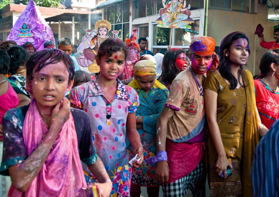 Durga Puja, India, festival, colores, musica, party, fiesta