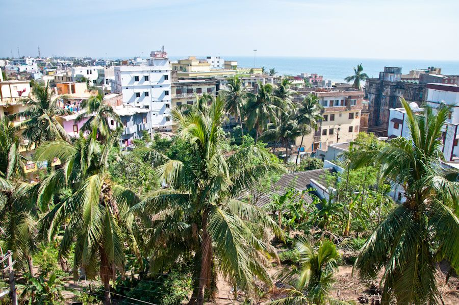 India, Orissa, ciudades bonitas, playa, selva