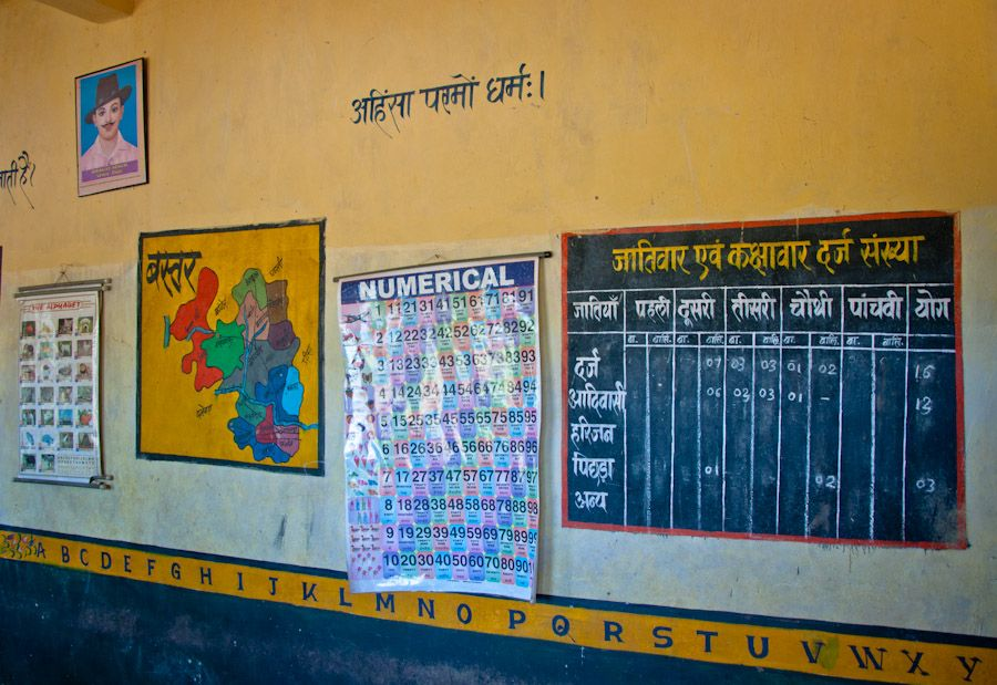Chhattisgarh, tribus, India, educación