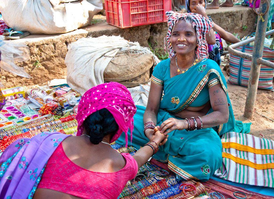 India, adivasi, mercados, pulseras, artesanias, chhattisgarh