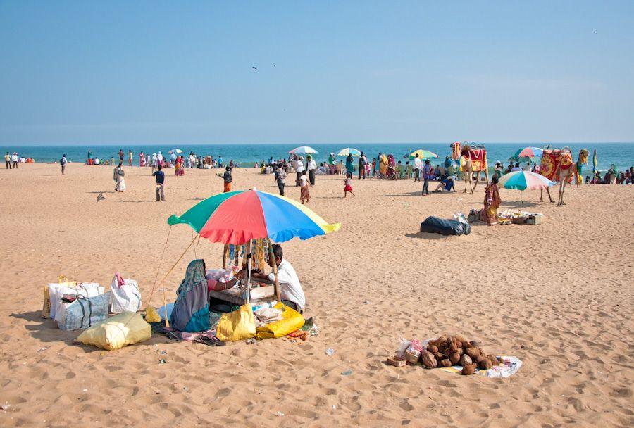 India, playa, puri, beach, Orissa, viaje