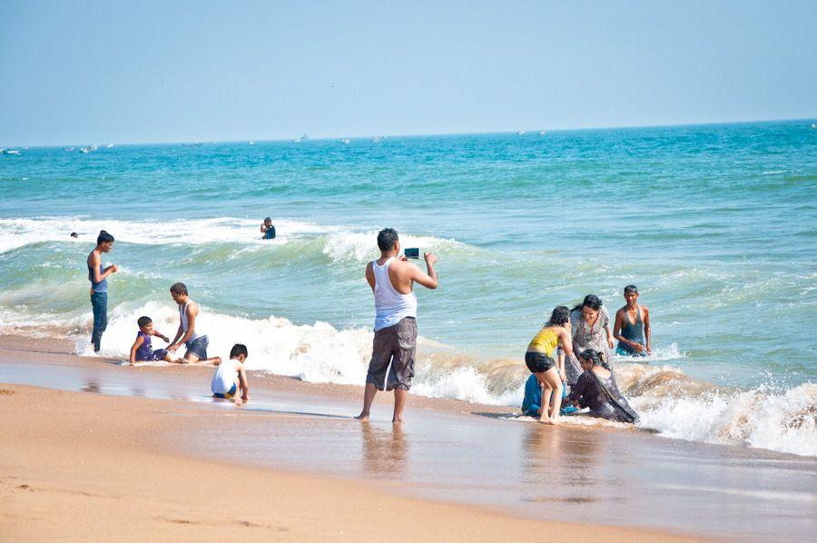 Orissa, India, beach, playa, bañarse, swimming