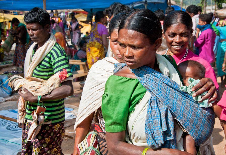 jagdalpur, aldea, mercado, tribal, Bastar, adivasi