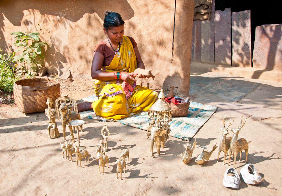 India, bronce, campana, artesanias, Chhattisgarh, Bastar