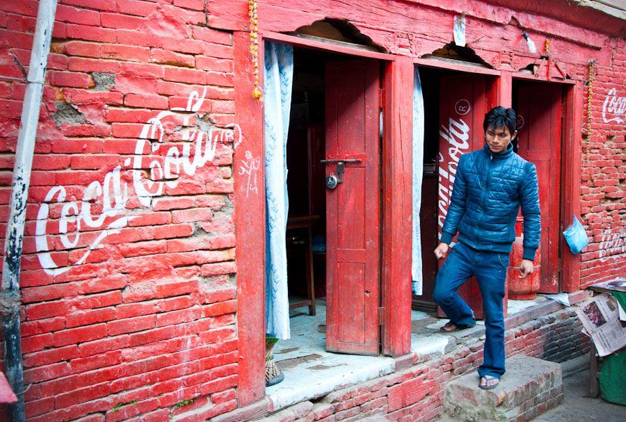 viaje, nepal, coca, cola, coke, publicidad, kathmandu