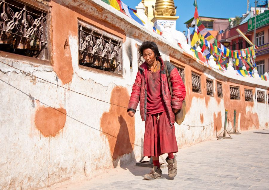 bodhnath, ruedas, oracion, kathmandu, nepal, budismo, religion