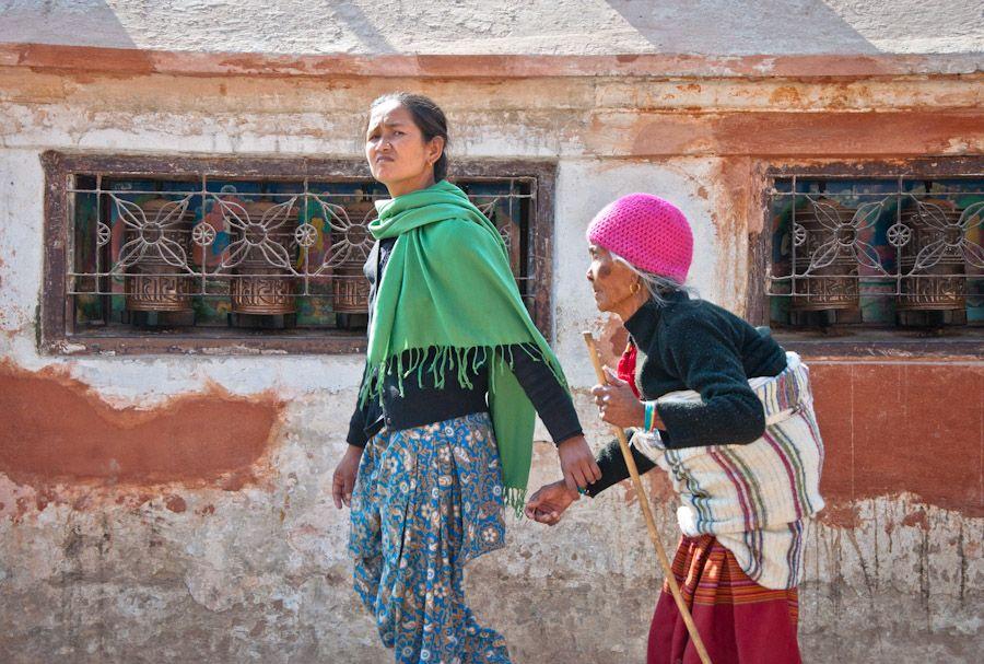 nepal, viaje, peregrinos, budista, oracion