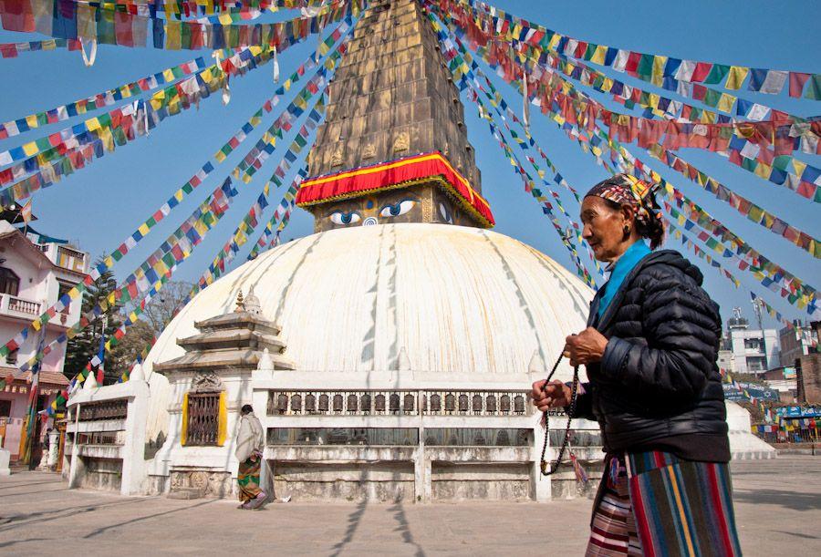 budismo, nepal, banderas, oracion, kathmandu, estupa