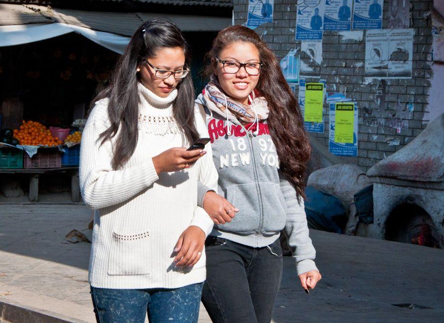 viaje, nepal, juventud, ropa, movil