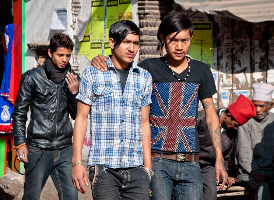 viaje, nepal, jovenes, ropa