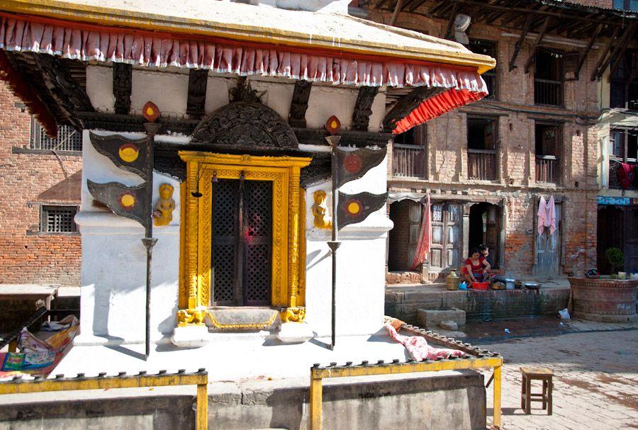 Nepal, viviendas, casas, templo, religion, budismo
