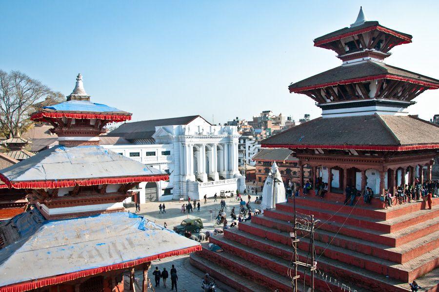 viaje, nepal, terraza, restaurante, square, vistas, templos