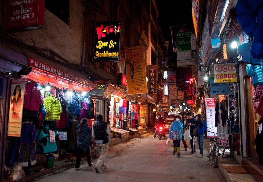 Kathmandu, nepal, thamel, noche, night