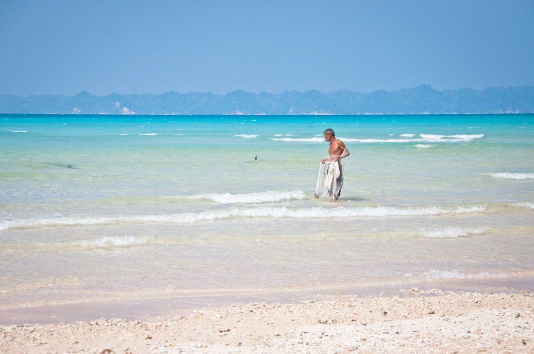 India, playas, mejores playas, Andaman, pescador, Neil, isla