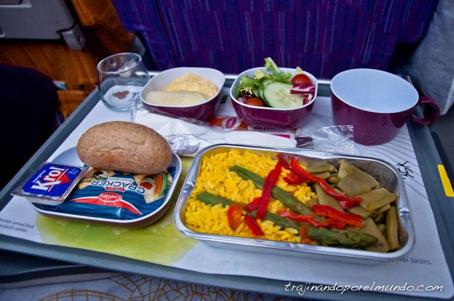 La comida vegetariana de los aviones