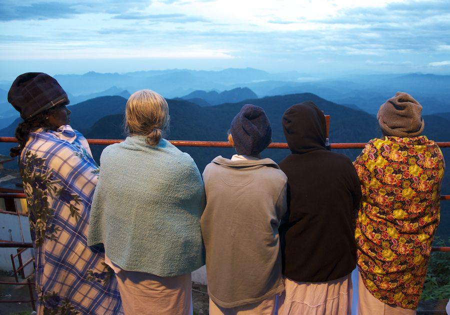 adam peak, sri-lanka, amanecer, montañas, Pico de Adan,